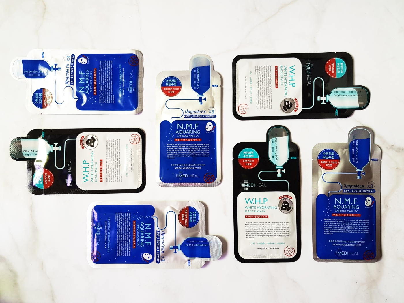 mediheal aqua ring ampoule hydrating whitening mask review